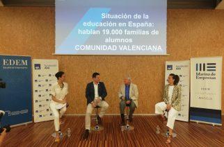 Las familias de Comunidad Valenciana, los que mejor valoran la educación que reciben sus hijos