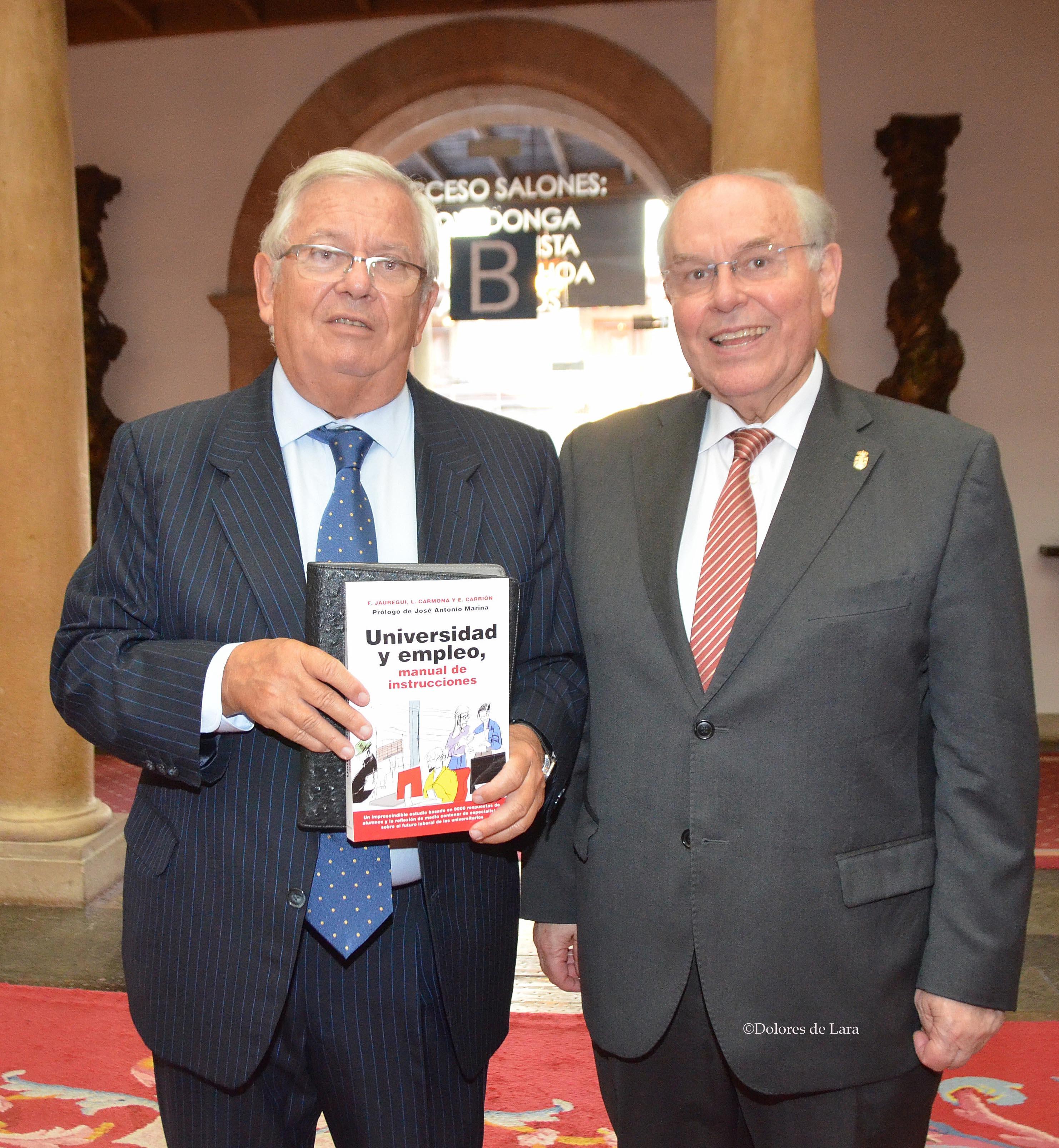 César Nombela, rector de la Universidad Internacional Menéndez Pelayo, con 'Universidad y Empelo'