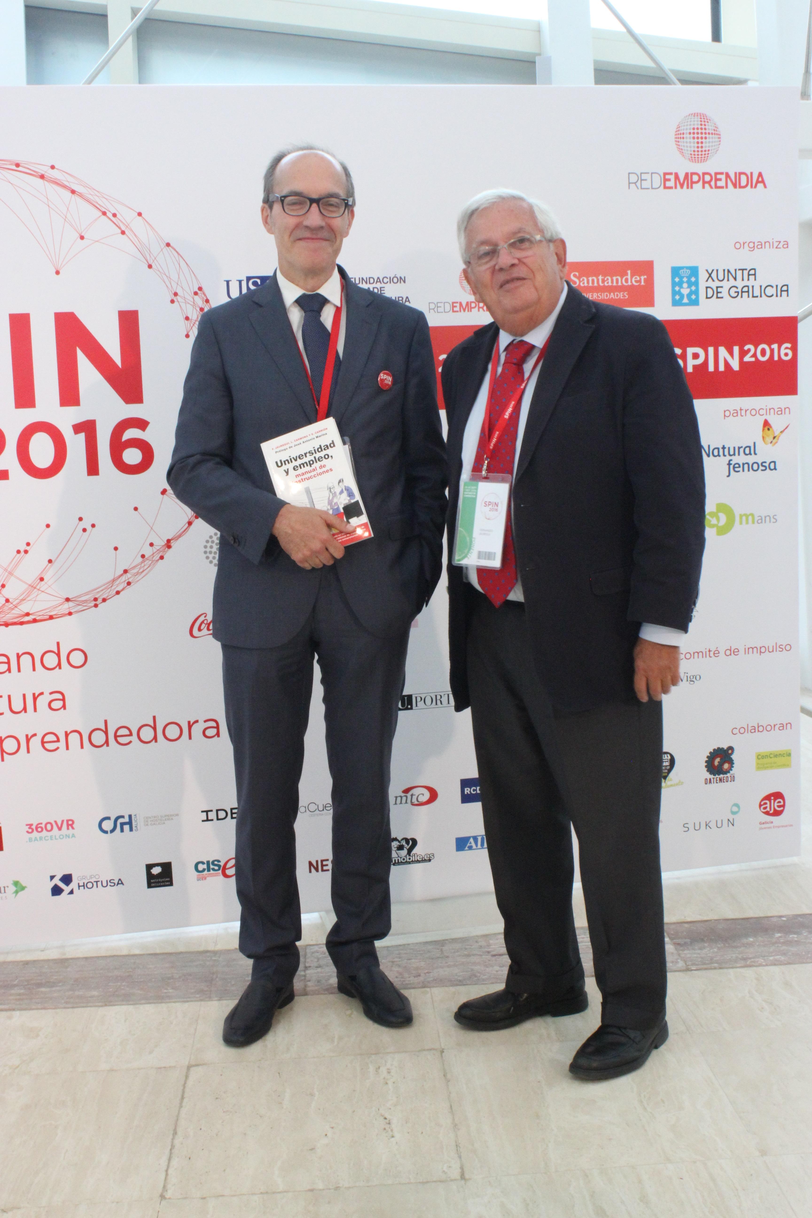 Senén Barro, presidente de RedEmprendia, presenta el libro 'Universidad y Empleo' en Santiago de Compostela en el Spin2016#